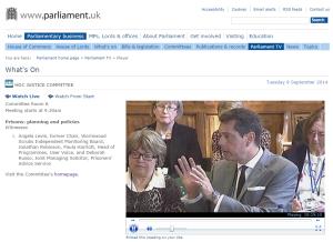 Courtesy of Parliamentlive.tv