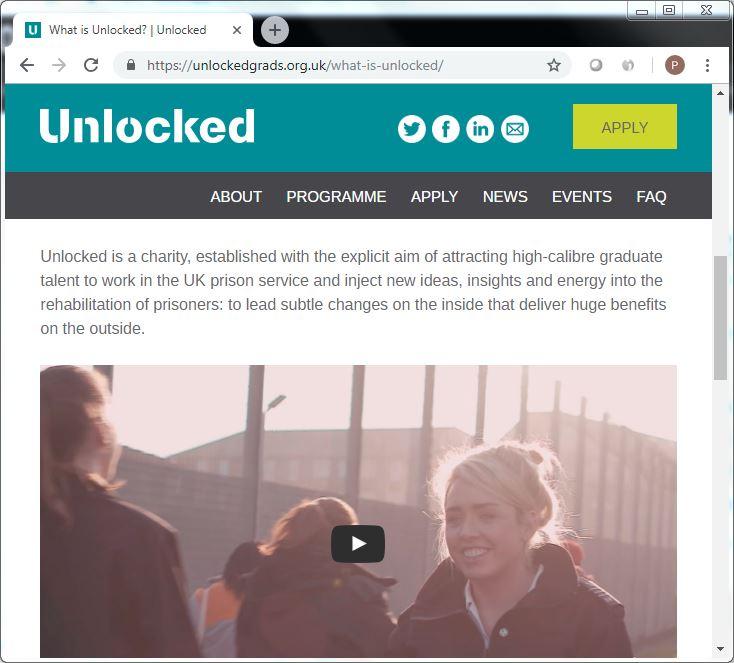 unlockedgrads dot org dot uk what is unlocked [charity] screenshot 22 Sept 2018