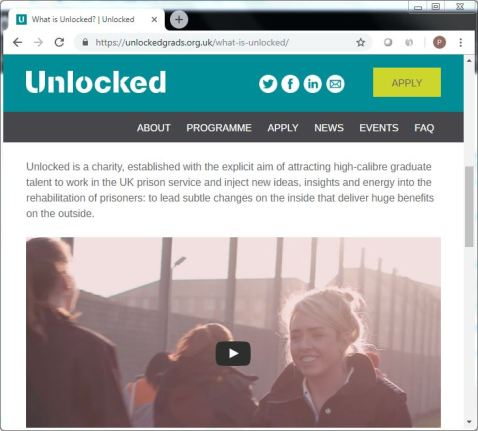 unlockedgrads dot org dot uk what is unlocked [charity] screenshot 22 Sept 2018